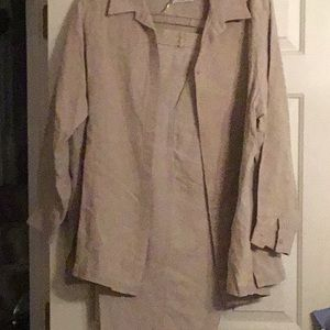 Eileen Fisher 100% 2pc pant set. All make offer